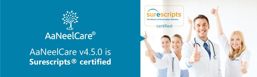 AaNeelCare v4.5.0 is Surescripts certified