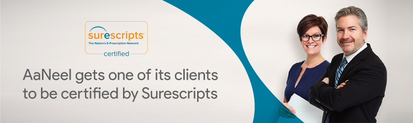 AaNeel gets one of its clients to be certified by Surescripts